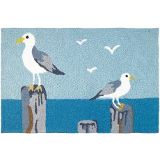 "Perched Gulls Indoor/Outdoor Rug, 20"" X 30"""