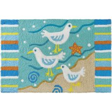 "Sassy Seagulls Indoor/Outdoor Rug, 20"" X 30"""