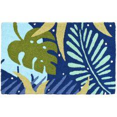 """Tropical Blues Indoor/Outdoor Rug, 20"""" X 30"""""""