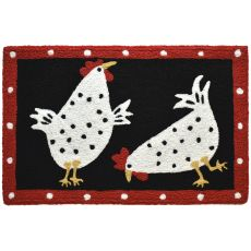 "Cluck, Cluck Chicks Indoor/Outdoor Rug, 20"" X 30"""
