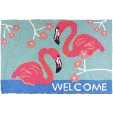 "Flamingo Welcome Indoor/Outdoor Rug, 20"" X 30"""