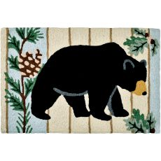"Black Bear & Pine Indoor/Outdoor Rug, 20"" X 30"""