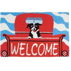 """Welcome Pup Indoor/Outdoor Rug, 20"""" X 30"""""""