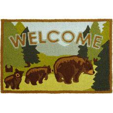 """Welcome Bears Indoor/Outdoor Rug, 20"""" X 30"""""""