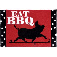 "Eat Bbq Indoor/Outdoor Rug, 20"" X 30"""