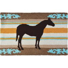 """Western Horse  Indoor/Outdoor Rug, 20"""" X 30"""""""