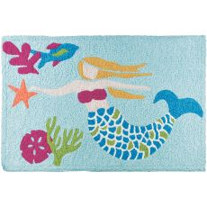 "Let's Be Mermaids Indoor/Outdoor Rug, 20"" X 30"""