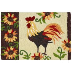 "Rooster & Sunflowers Indoor/Outdoor Rug, 20"" X 30"""