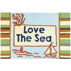 "Love The Sea Indoor/Outdoor Rug, 20"" X 30"""