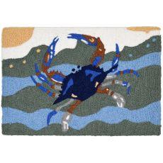 """Blue Crab Surf Indoor/Outdoor Rug, 20"""" X 30"""""""