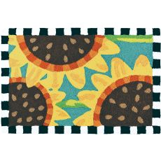 "Sunflowers On Teal Indoor/Outdoor Rug, 20"" X 30"""