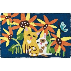 "Kittens In The Garden Indoor/Outdoor Rug, 20"" X 30"""