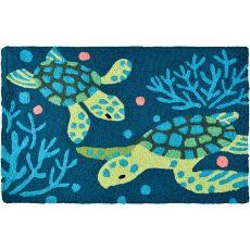 "Deep Blue Sea Turtles Indoor/Outdoor Rug, 20"" X 30"""