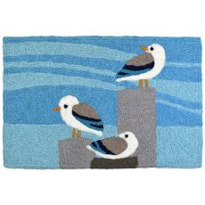 "Sunning Seagulls Indoor/Outdoor Rug, 20"" X 30"""