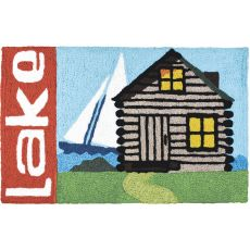 "Lake Cabin Indoor/Outdoor Rug, 20"" X 30"""