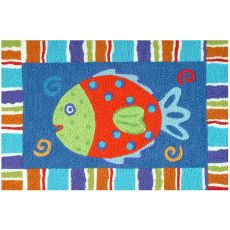 "Smiling Fish Indoor/Outdoor Rug, 20"" X 30"""