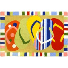 "Multi-Colored Sandals Indoor/Outdoor Rug, 20"" X 30"""