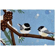 """Chickadee & Pine Cone Indoor/Outdoor Rug, 20"""" X 30"""""""