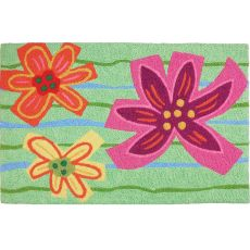 "Crayon Hibiscus  Indoor/Outdoor Rug, 20"" X 30"""