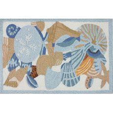 "Shells & Coral Indoor/Outdoor Rug, 20"" X 30"""