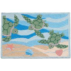 """Turtles Swimming Indoor/Outdoor Rug, 20"""" X 30"""""""