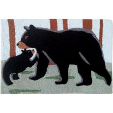 "Black Bear & Cub Indoor/Outdoor Rug, 20"" X 30"""