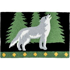 "Howling Wolf Indoor/Outdoor Rug, 20"" X 30"""
