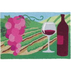 "Merlot Valley Indoor/Outdoor Rug, 20"" X 30"""