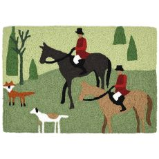 "Fox Hunt Indoor/Outdoor Rug, 20"" X 30"""