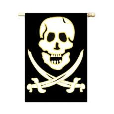 Jolly Roger Applique Flag