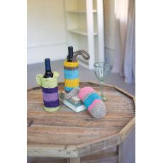 Crocheted Fique Wine Bags Set of 3