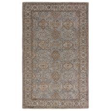 Classic Oriental Pattern Gray/Brown Wool Area Rug ( 8X11)