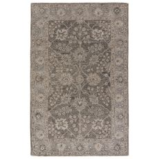 Classic Oriental Pattern Brown/Gray Wool Area Rug ( 8X11)