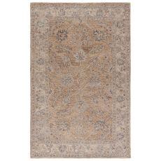 Classic Oriental Pattern Neutral/Gray Wool Area Rug ( 8X11)