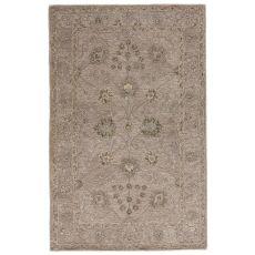 Classic Oriental Pattern Neutral/Brown Wool Area Rug ( 8X11)