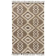 Tribal Pattern Wool And Cotton Kokoda Area Rug
