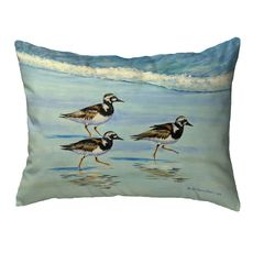 Ruddy Turnstones Small Noncorded Pillow 11x14