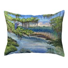 Marsh Morning Small Noncorded Pillow 11x14