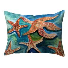 Swimming Starfish Small Noncorded Pillow 11x14