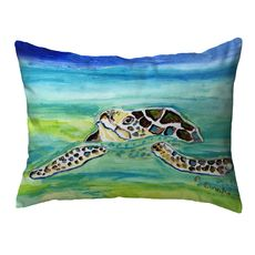 Sea Turtle Surfacing Small Noncorded Pillow 11x14