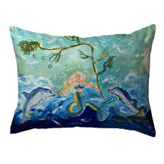 Queen of the Sea Small Noncorded Pillow 11x14