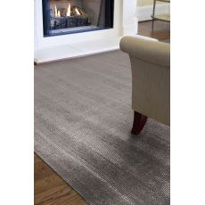 Solids Solids & Heather Pattern Gray Wool And Art Silk Area Rug (9X13)