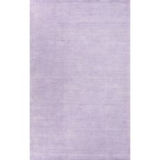 Solids Solids & Heather Pattern Purple Wool And Art Silk Area Rug (9X13)