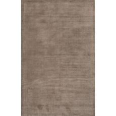 Solids Solids & Heather Pattern Taupe/Tan Wool And Art Silk Area Rug (9X13)