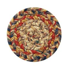 "Homespice Decor 4"" Coaster Round Kingston Jute Braided Accessories"