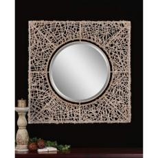 Knotted Rattan Natural Mirror