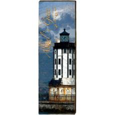 Angel's Gate Lighthouse Wood Wall Art
