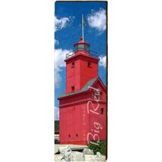 Big Red Lighthouse Wood Wall Art