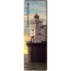 14ft Bank Lighthouse Wood Wall Art