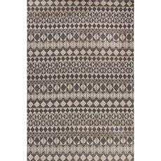 Flatweave Tribal Pattern Black/Gray Wool Area Rug (8X10)